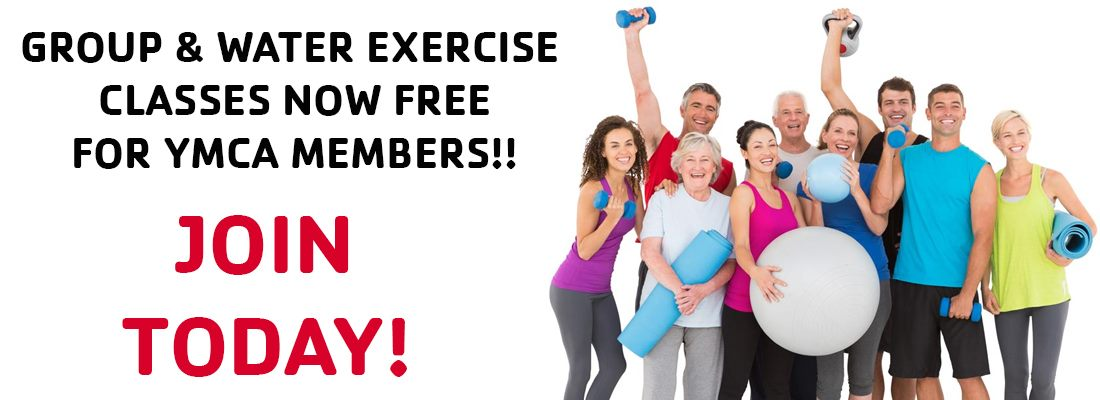Group & Water Exercise Classes now Free for YMCA Members!