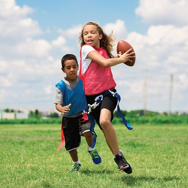 kids playing flag football