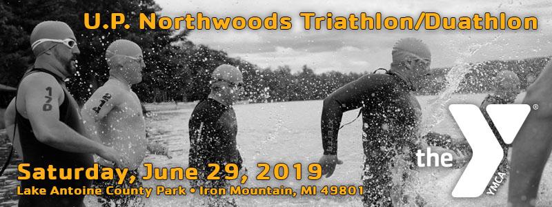 UP Northwoods Triathlon/Duathalon, Iron Mountain, June 29, 2019